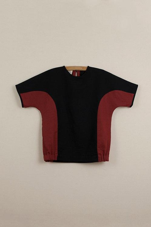Set Of Reversible Culotte & Black two tone shirt