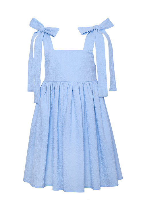 Cotton Dress with Ties