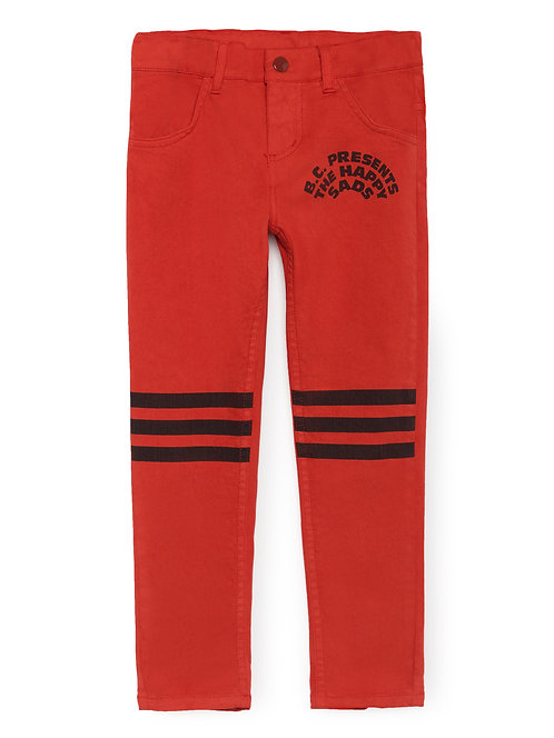 Red Slim Fit Trousers