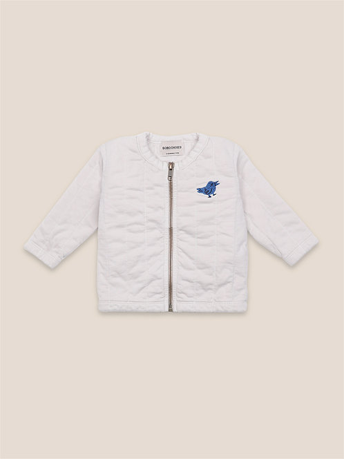 Bird Quilted Zipped Sweatshirt