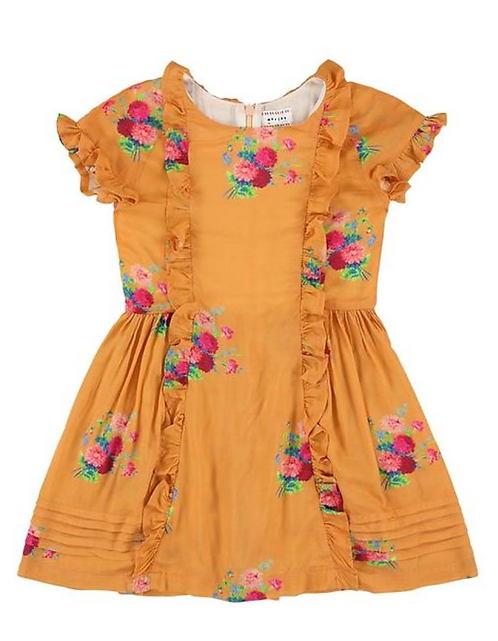 Lipstick Small Floret Cantaloupe Dress