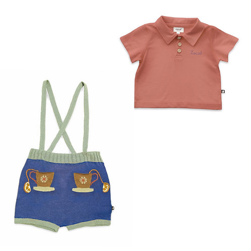 Polo & Pocket Shorts Set