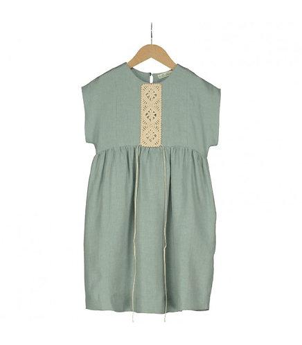 Bizet Green Linen Dress