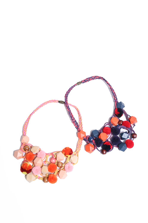 SALOME WOOD BEAD NECKLACE