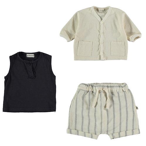 Fleece Jacket, Organic T-Shirt & Croata Shorts