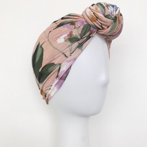 Glam Knot Turbans- Blush Floral
