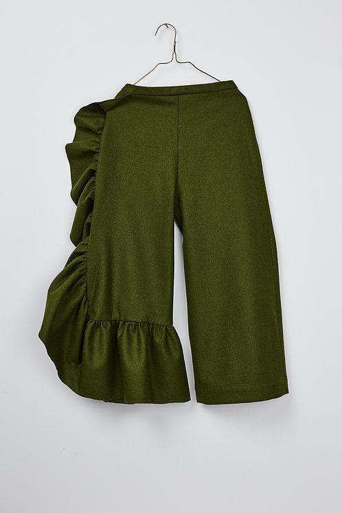 Frill Wool Pant
