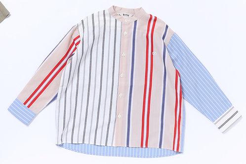 Stand Collar Big L/S Shirt