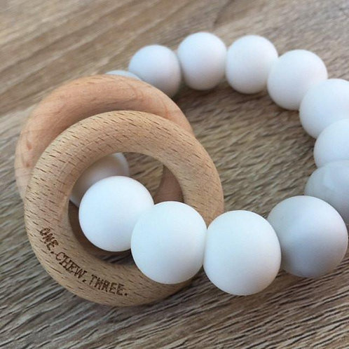 Pattle Silicon & Beech Wood Teether