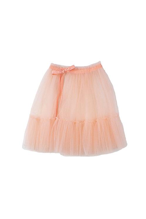 Pink Apron Tulle Girls Skirt