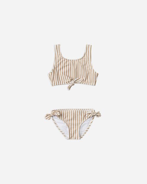 Stripped Knotted Bikini