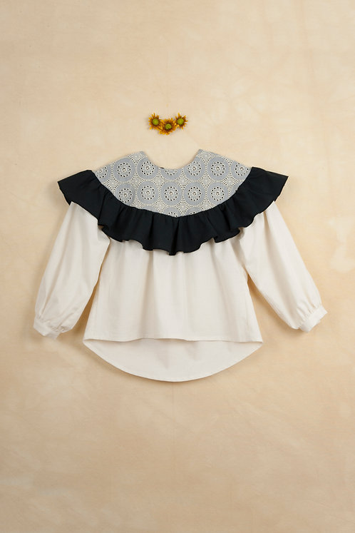 Off-White Shirt With Frill