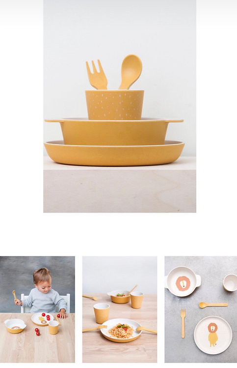 Bamboo Tableware- Mr. Lion Set