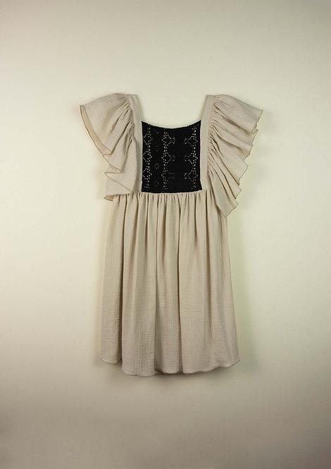 Beige Bib Dress