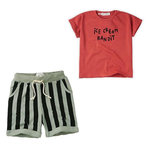 Ice cream Bandit T-Shirt & Short Set