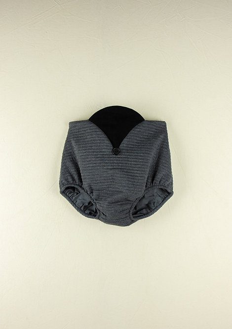 Grey knitted High-waist culotte