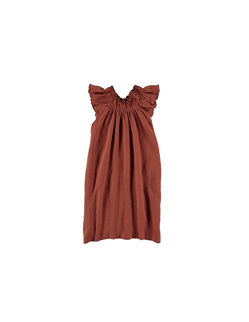 Long Terracotta Dress