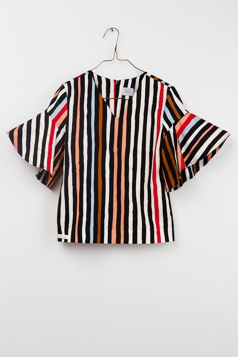 Frida Blouse - Striped Print