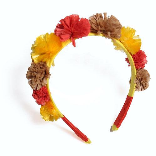 Raffia Pompom Headband