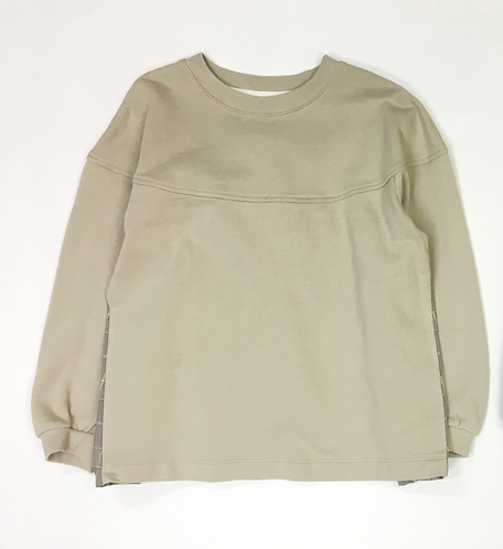 Check Gather Terry Sweatshirt