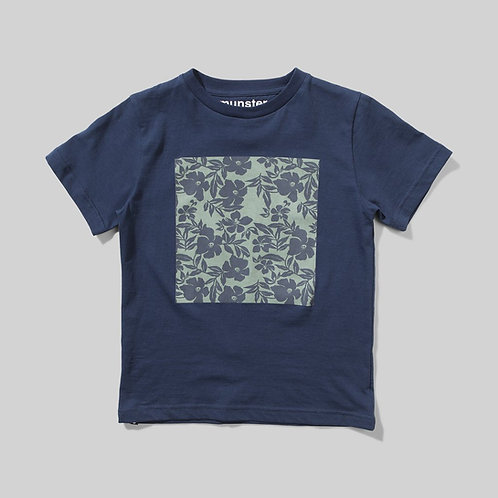 Flower Mat Tee/ Midnight