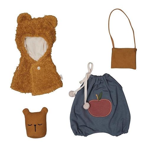 Doll Clothes Set - Bear Cape