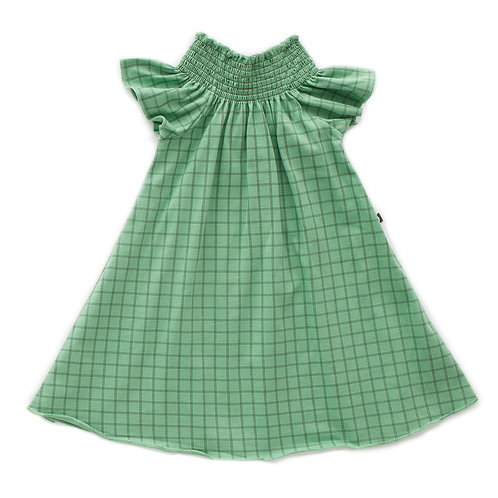 Peasant Dress  Green Checks