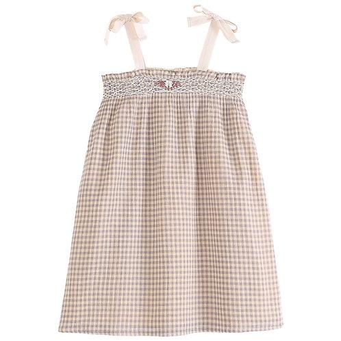 Peach Gingham Dress