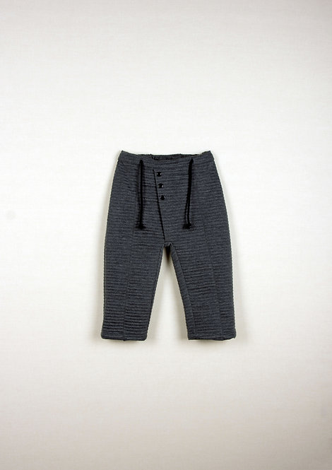Grey Knitted Pleat Trousers