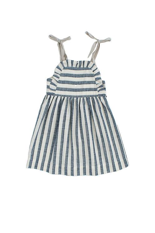 Girls Dress Apron Navy