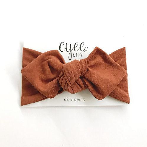 Top Knot Headband- Cocoa
