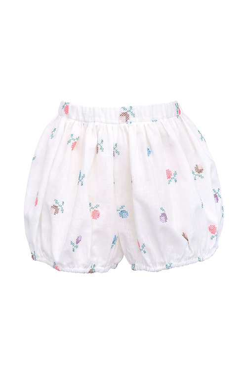 Embroidered Linen Shorts Alice