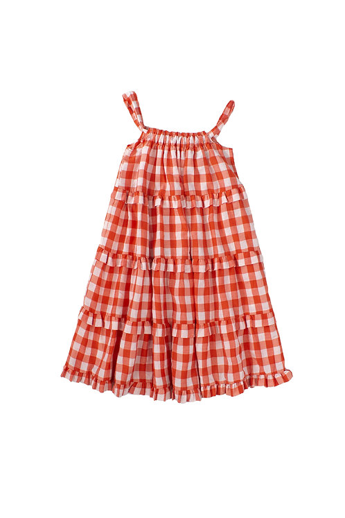 Sidra Red Girls Dress