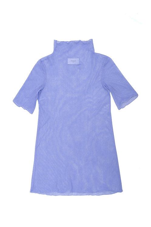 Cotton Tulle Sheer Dress