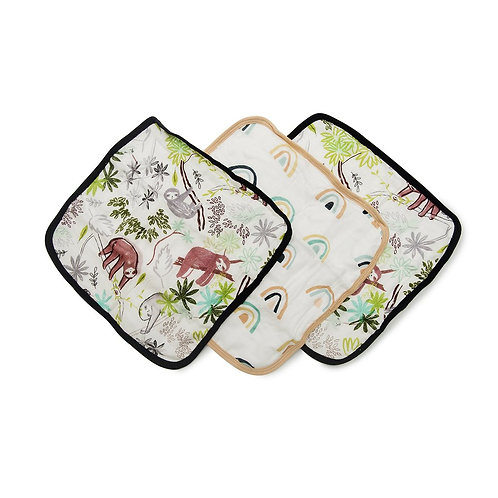 Washcloth 3-pieces Set- Sloth