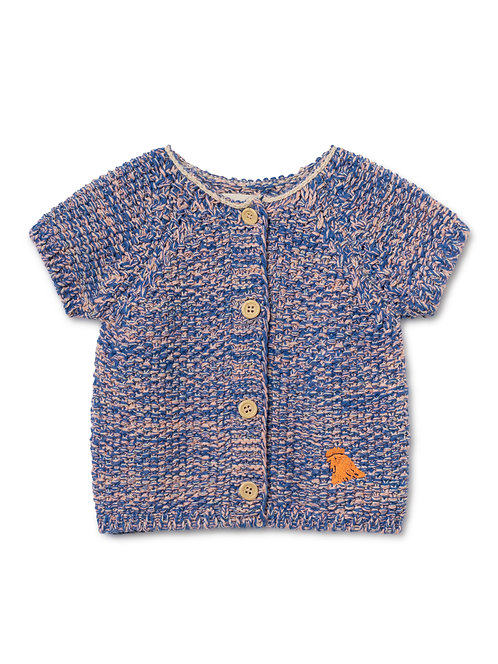 Set Of B.C. Short Sleeve Cardigan & Knitted Culotte