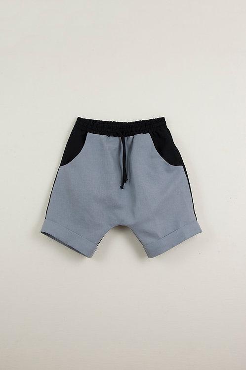 Blue Two Toned Bermuda Shorts