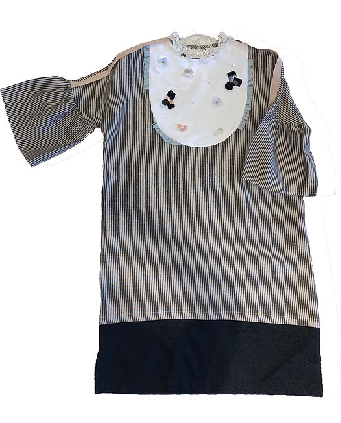 Lulwah Dress- Khaki Stripes