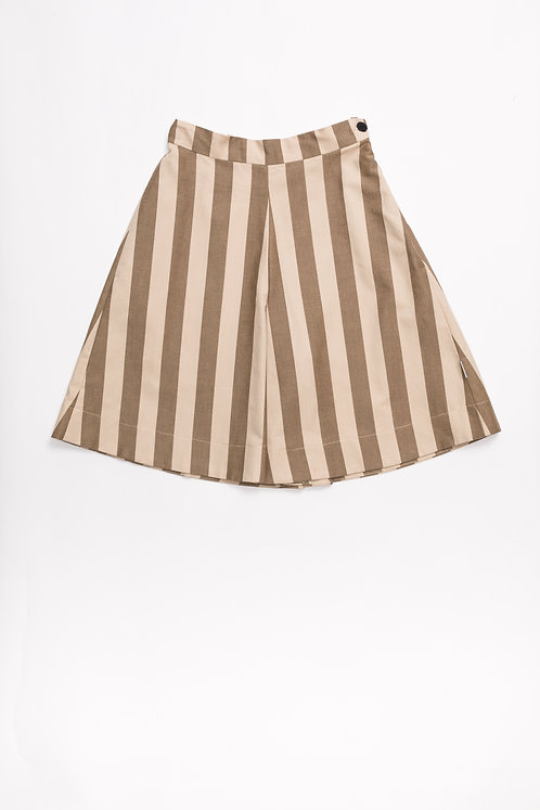 Culottes Beige &Maroon Stripes
