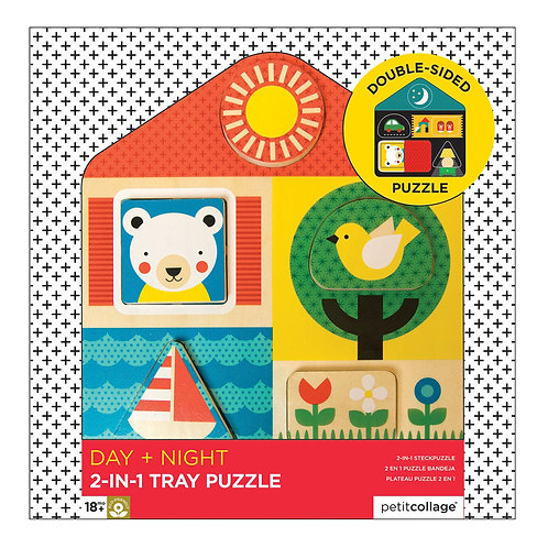 Wooden Tray Puzzle- Day & Night