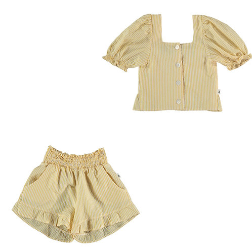 Seersucker Top & Shorts Set