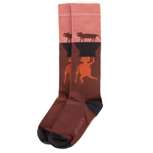 Socks Animals Pink