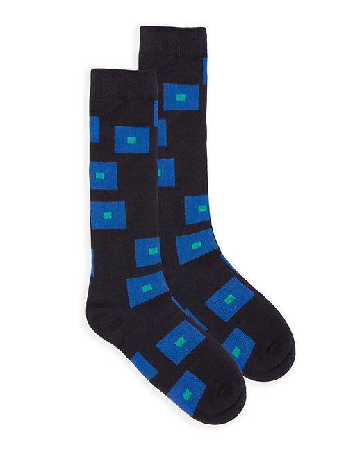 Jacquard Squares Socks
