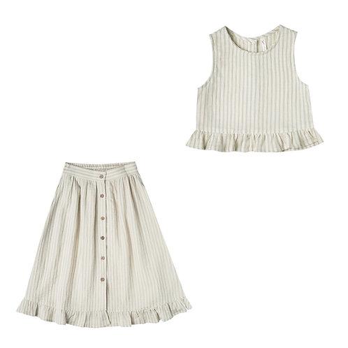 Striped Oceanside Top & Skirt Set