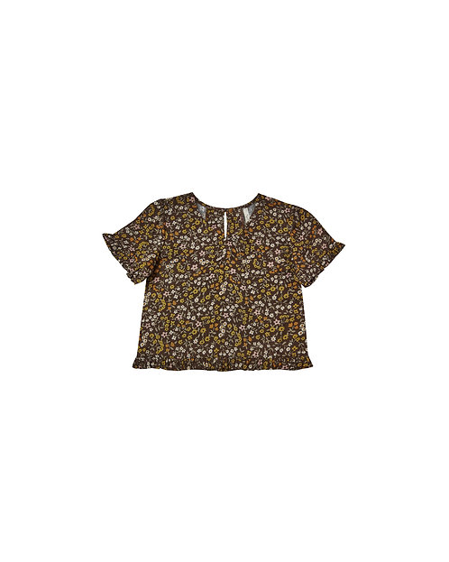 Dark Floral Rory Top