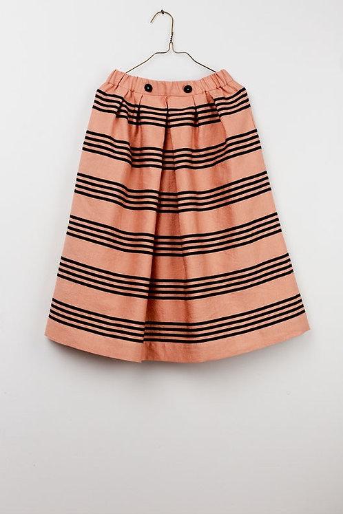Sophia Skirt- Salmon Stripes