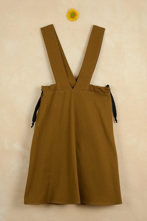 Ochre Tone Pinafore Dress