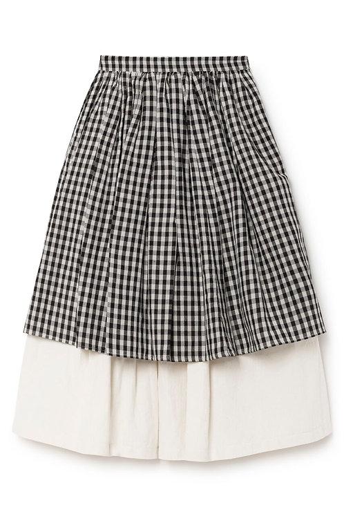 Checked Layered Skirt