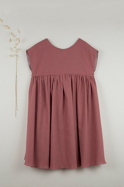 Red Clay Colored Reversible Yolk Dress