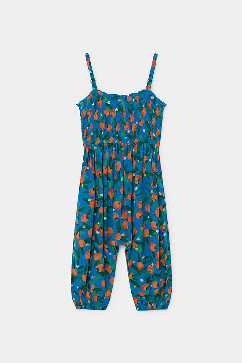 All Over Oranges Smoccked Overall